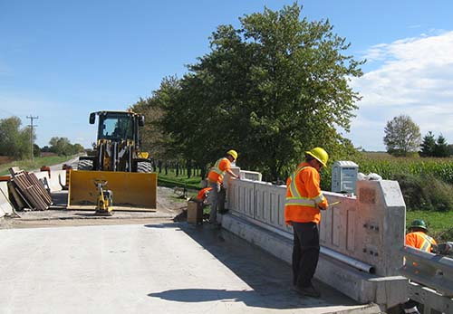 Our public works staff work hard to keep our roads and bridges in top condition.