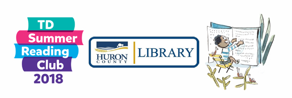 TD Summer Reading Club 2018 at Huron County Library with a little boy sitting in a chair reading