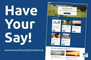 A screen shot of the Huron County Connects platform