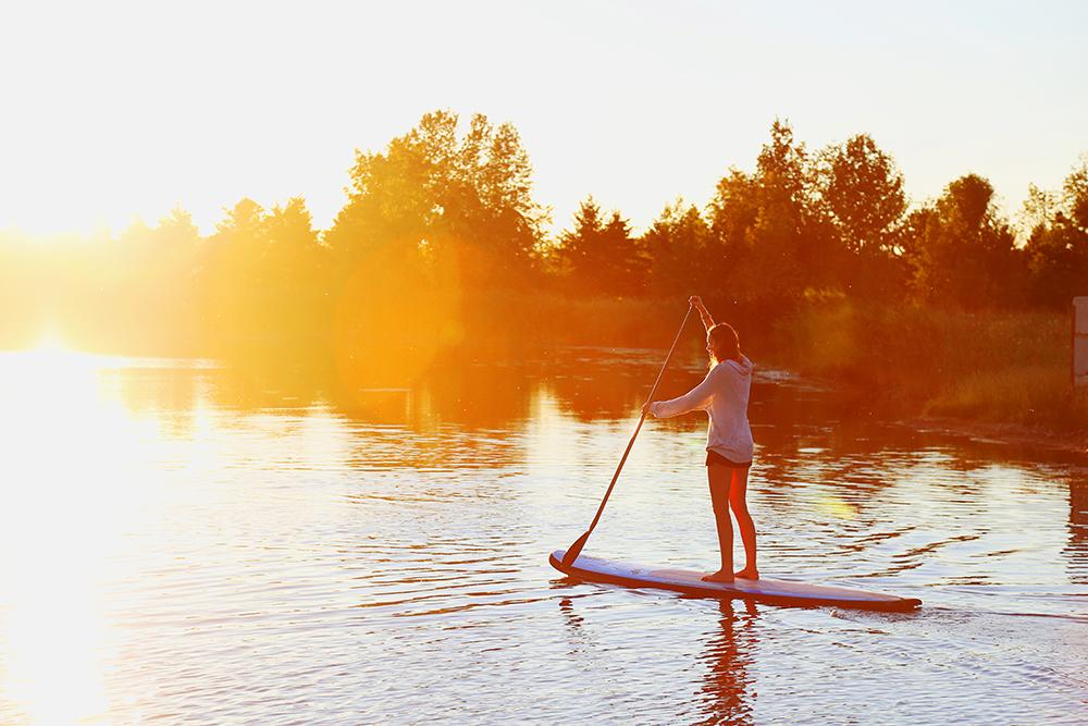 Paddle Boarding on Windmill Lake